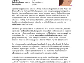 Jennifer Lopez Biografía - JLo Biography in Spanish and English **BILINGUAL**