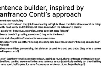 yr7 sports with FAIRE sentence builder (inspired by Gianfranco Conti)