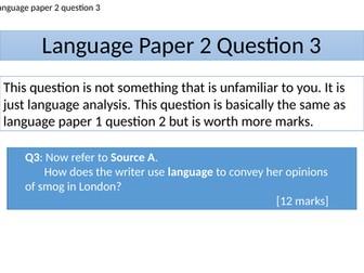 LANGUAGE PAPER 2 - QUESTION 3