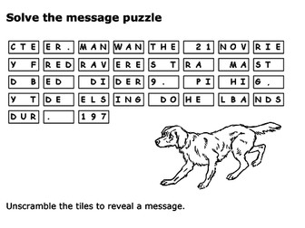 Solve the message puzzle about Red Dog
