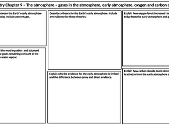 NEW AQA 2016 GCSE Trilogy Chemistry revision mat for the atmosphere