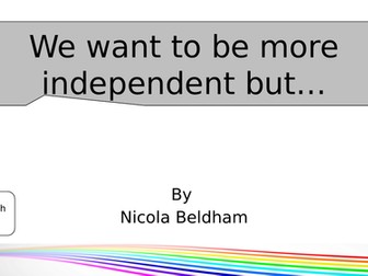 20-30 minute session: Behaviour for Independence
