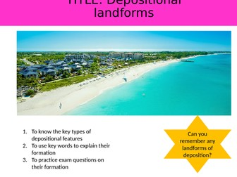 Coastal Depositional Landforms