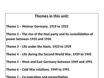 Eduqas - WJEC GCSE History Revision Guide - The development of Germany, 1919-1991