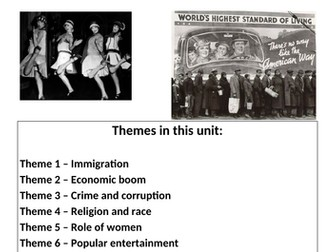 Eduqas - WJEC GCSE History Revision Guide - The USA - A nation of contrasts, 1910 to 1929