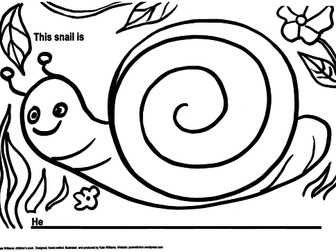 Snail Picture-Poem Frame, EYFS/Yr1 + Guidance Notes