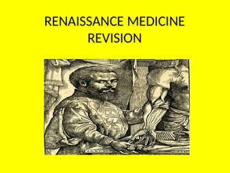 GCSE History Medicine in Britain Revision Topic 2 The Renaissance