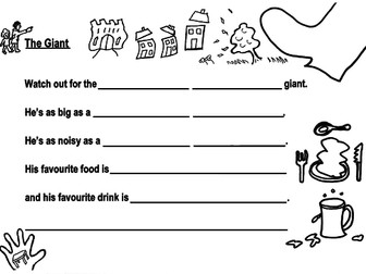 2 'Giant' Poetry Frames + Examples for Use, Yrs 2-6