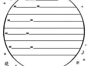 Planet Picture-Poem Frame (KS2) + Guidance Sheet