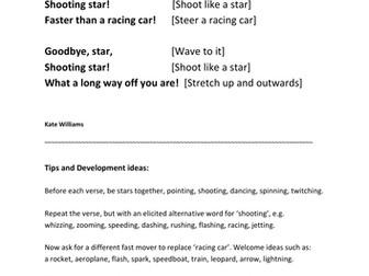 'Hello Star!' Action Rhyme, with intro & development ideas, EYFS/KS1