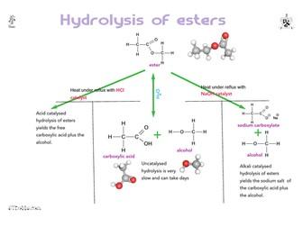 Hydrolysis of esters summary