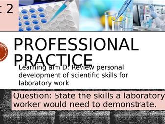 Pearson BTEC-Applied science-UNIT 2D-Professional practice