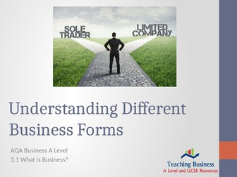 AQA Business - Understanding Different Business Forms