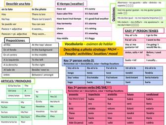 3 Spanish GCSE language/ grammar mats - Useful for Speaking/ Writing assessments