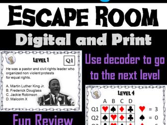 Civil Rights: Escape Room - Social Studies