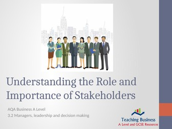 AQA Business - Understanding the Role and Importance of Stakeholders