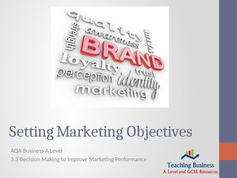 AQA Business - Setting Marketing Objectives