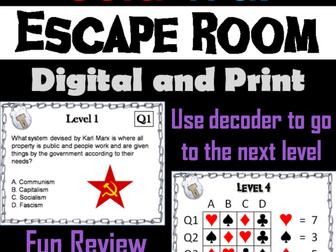 Cold War: Escape Room - Social Studies