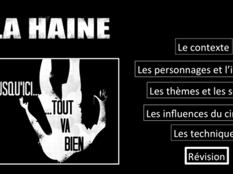 La Haine- Movie Study/ Etude du film- Revision/ summary sheets/ cheat sheets- A Level French