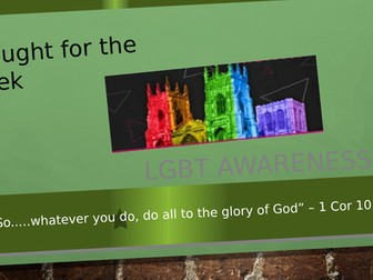 LGBT Awareness - Reflections : An Assembly