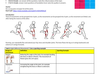 IGCSE PE (new spec 2018) 1.3. Movement at the joints