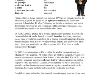 Federico García Lorca Biography: Spanish Biography on Poet Garcia Lorca