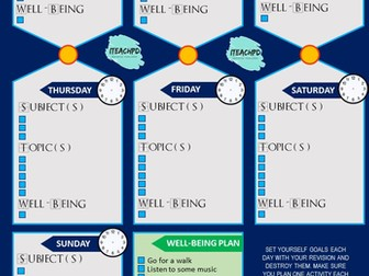 Revision Plan - Help pupils plan their time and get organised!