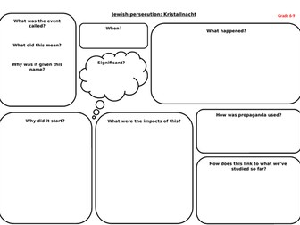 Kristallnacht differentiated worksheets