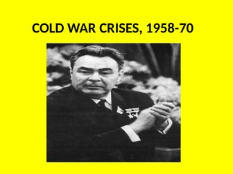GCSE History Superpower Relations and the Cold War Topic 2 Revision