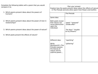 GCSE English Literature Revision Power and Conflict