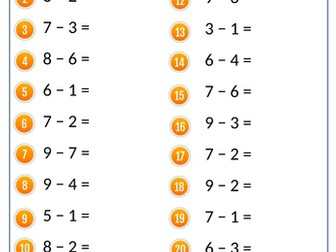 Medieval Maths – Subtraction Drills (Numeracy/Catch up/Intervention/Homework/Cover)