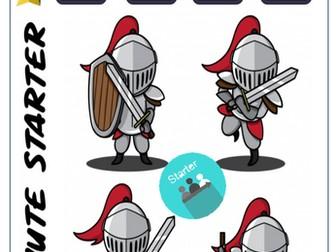 Medieval Math - Addition 5 min starter drills