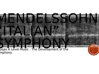 Overview - Mendelssohn 'Italian' Symphony