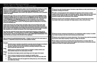 A' Level Sociology - Key Theorists - Revision bundle