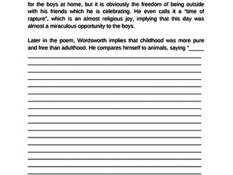 WJEC-Eduqas Anthology Poetry Questions and Examples