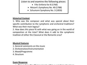 Listening Logs - The Development of the Symphony