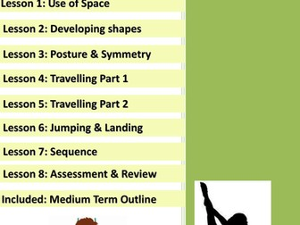 SEND Gymnastics Lesson Plans x8