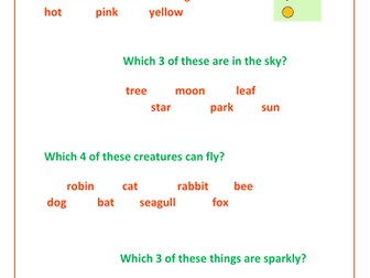 Reading/Phonics Game - KS1