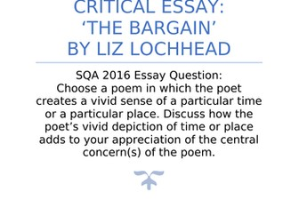 Tragedy Essay A Grade Higher English Liz Lochhead  Word Critical Essay On The  Bargain Poem Satirical Essays Topics also A Message To Garcia Essay Liz Lochhead Poetry Essays Revelation My Rivals House Box Room  Compare And Contrast Essay Introduction