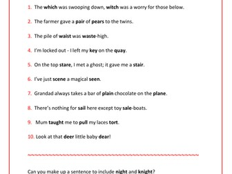 Spelling Quizzes (2 sheets) for Yrs 4-6