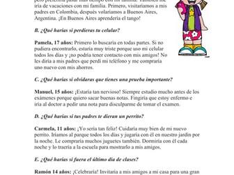 Spanish Conditional Reading: ¿Qué harias tú…? (Condicional)
