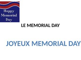 LE MEMORIAL DAY