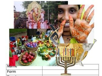 Religious Festivals Homework Project