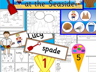 LUCY AND TOM AT THE SEASIDE story resource pack- Holidays, Summer