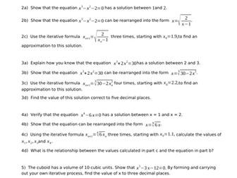 GCSE 9-1 Maths - Iteration worksheet