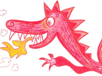 3 Colourful, Crazy Dragons