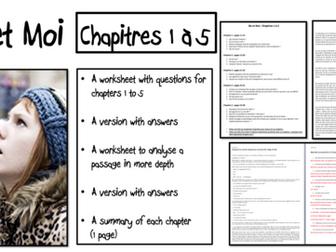 No et Moi- Chapitres 1 à 5- worksheets and summaries