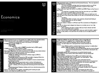 A Level Economics I Macroeconomics Revision Cards