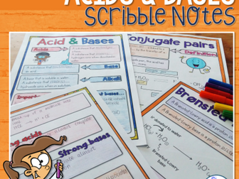 Acid Base Scribble (Doodle Notes)