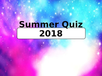 End Of Year Quiz 2018